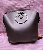 Женская красивая кожаная сумка с ремешком (расцветки)