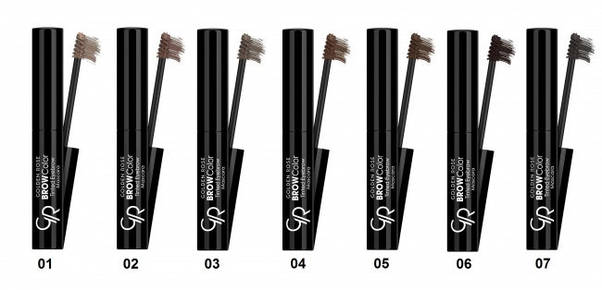 Тушь для бровей Golden Rose Brow Color Tinted Eyebrow, тон № 01, фото 2