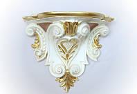 Консоль настенный 25х29 см. из полистоуна, золотистый Euromarchi