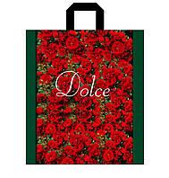 Пакет петля 30*35 Дольче розы