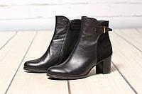 Женские кожаные ботинки TIFFANY на среднем каблуке со вставкой из кожи, замша, фото 1