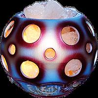 Соляной светильник, Шар-круги, Вес: 4кг; Размеры: 20*20*20см