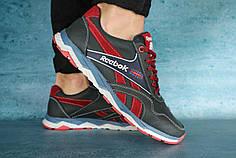 Мужские демисезонные кроссовки Reebok черно - красные топ реплика