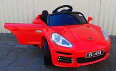 Детский электромобиль Porsche Panamera + резиновые EVA колеса + кожа сидение + 2 мотора по 30 Ватт, фото 3