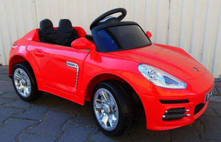 Детский электромобиль Porsche Panamera + резиновые EVA колеса + кожа сидение + 2 мотора по 30 Ватт, фото 2