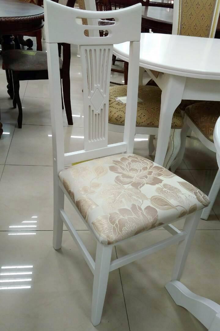 Стул кухонный Юля твёрдая спинка Микс мебель, цвет белый