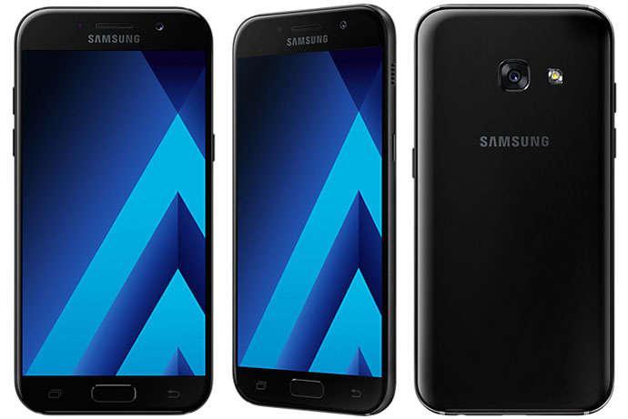 """Смартфон Samsung A320F Galaxy A3 2017 (SM-A320FZKD) Black, 2/16Gb, 8 ядер, 13/8Мп, 4.7"""", 2 sim, 4G."""