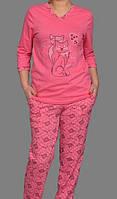 Пижама женская домашняя трикотажная одежда кофта с брюками