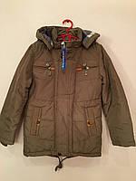 Демисезонная куртка для мальчика. Размеры от 6-ти до 11-ти лет. Светло-оливковый, S