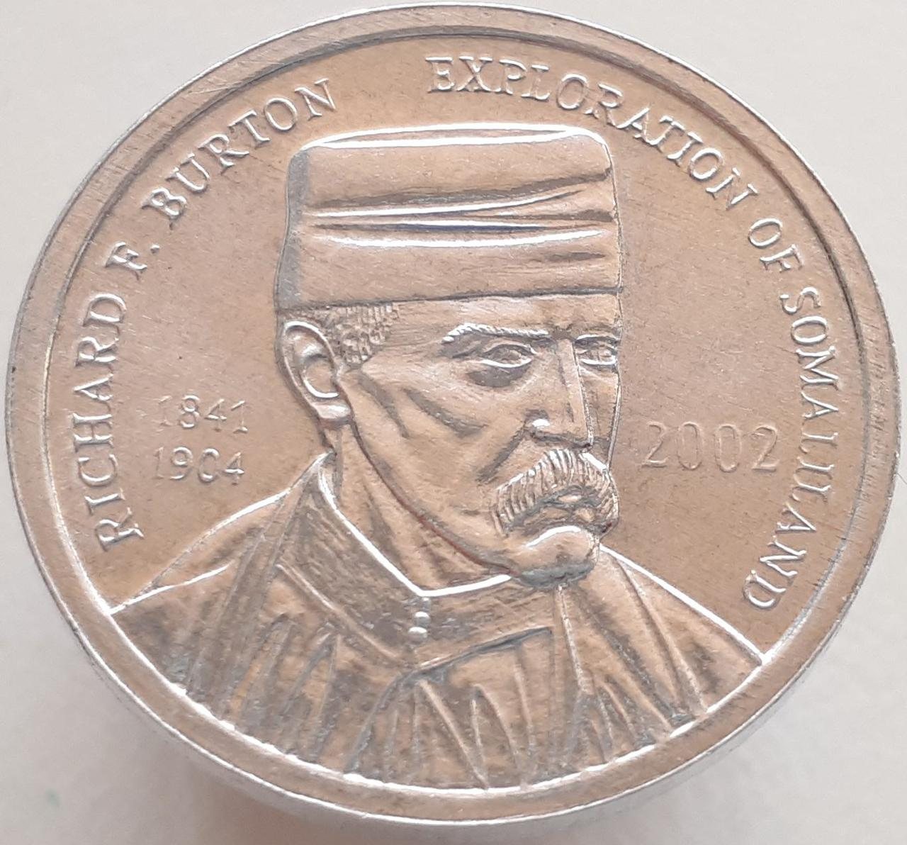 Сомалиленд 5 шиллингов 2002 - Ричард Френсис Бёртон