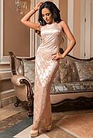 Изысканное вечернее платье макси с вышивкой батал