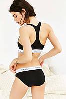 Женский спортивный комплект Calvin Klein топ и слипы трусики Кельвин Кляин 4 Цвета реплика
