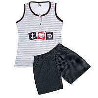 Оптом пижама-шорты Fawn морячка арт::2661