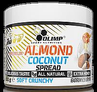 Миндаль, кокос, мед Olimp Premium  Almond Coconut Spread soft crunchy( 300g)