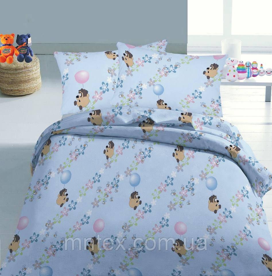 Ткань для пошива постельного  ранфорс Пакистан  Винни Пух на голубом