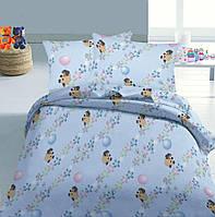 Ткань для пошива постельного  ранфорс Пакистан  Винни Пух на голубом  , фото 1