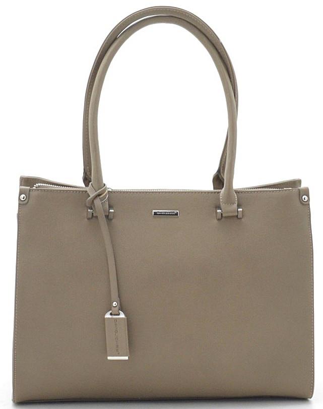 709f96c5abc4 Женская сумка David Jones 75524A-2 taupe купить сумки и клатчи Девид Джонс  недорого в