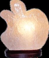 Соляной светильник, Яблоко, Вес 1кг; Размеры: 12*10*15см