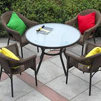 Обідінй комплект SOLAR стіл 105 см + 4 крісла