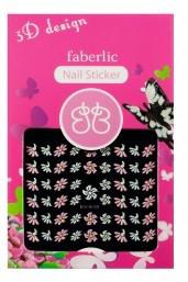 """Стикеры для ногтей 3D - дизайн """"Цветочки"""", Faberlic, Фаберлик, 7390"""