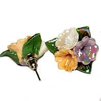 Сережки фарфорові в асортименті, фото 1