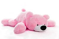 Большая мягкая игрушка медведь Умка 125 см розовый