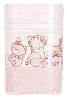 Термоконтейнер Ceba Baby Double   85*155*230мм*2шт бутылочки  беж-капучино (мишка,утка,ослик,ежик,слон,мышка)