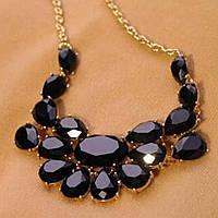 Колье ожерелье ювелирная бижутерия позолоченное 358