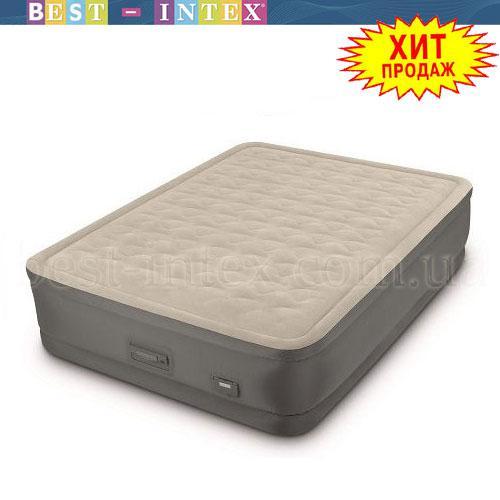 Надувная кровать Intex 64926 (152x203x46 см.) USB + Встроенный насос 220 В