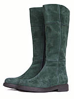 Зеленые замшевые сапоги, фото 1