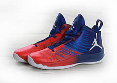 Кроссовки Nike Air Jordan Super Fly 5 Blue Red топ реплика