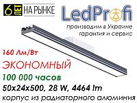 Led светильник подвесной, встраиваемый для офисов и производства
