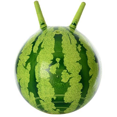 Мяч для фитнеса-38см MS 0473  с рожками, арбуз, 310г, в кульке, 19-13-