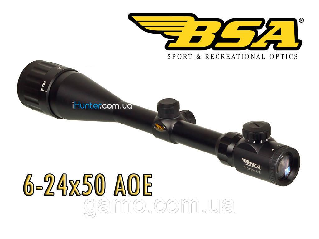 Оптический прицел BSA 6-24x50 AOE Iluminated Reticle