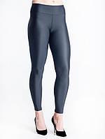 Модные женские лосины черного цвета. Ткань- бифлекс