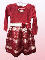 Платье для девочек с украшением  0102/17
