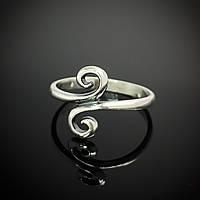 Серебряное женское кольцо Завитушки
