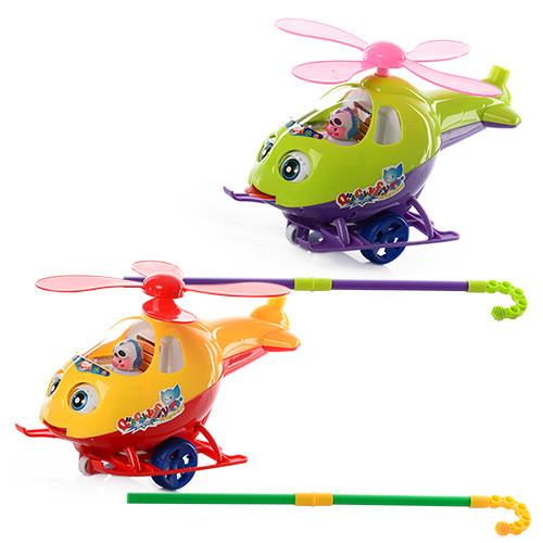 Каталка 0302  на палке53см,вертолет,звук,вращ.винт,закр.глазки,показ.я