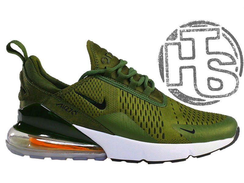 09c058b2 Мужские кроссовки Nike Air Max 270 Flyknit Green/White - Интернет-магазин