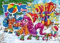 Новогодние пазлы с лошадками пони, S20-07-10
