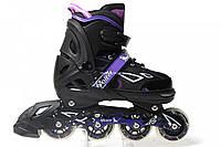 Роликовые коньки раздвижные King Power Фиолетовые