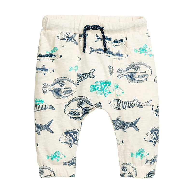 Штаны для мальчика Jumping Meters Рыбы (р.1,3,4,5,6 лет)