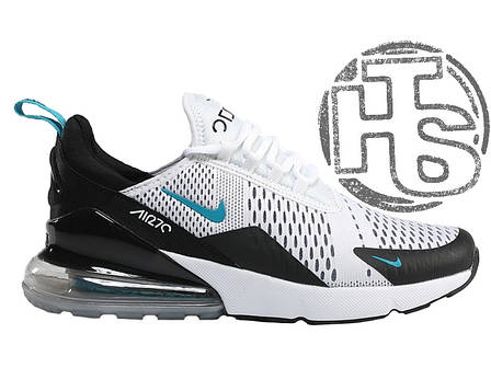 287e7977 Мужские кроссовки Nike Air Max 270 Flyknit White/Black/Blue AH8050-001,