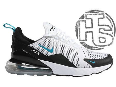 Мужские кроссовки Nike Air Max 270 Flyknit White Black Blue AH8050-001, 6b67661c789
