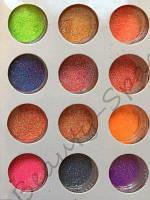 Набор цветного меланжа для дизайна ногтей - 12 шт.