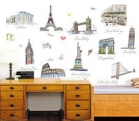 Інтер'єрна наліпка на стіну Подорожі / Интерьерная наклейка на стену Путешествия AY9090