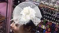 Шляпка на уточке Роза с перьями 4 вида