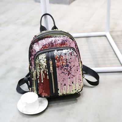 Рюкзак з паєтками, кишені на блискавці - 207-173