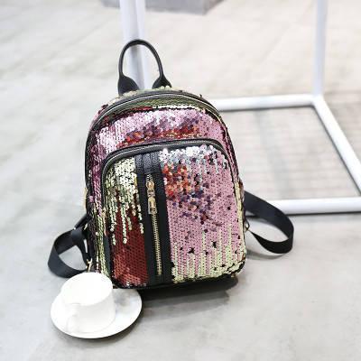 Рюкзак з паєтками, кишені на блискавці - 207-173, фото 2