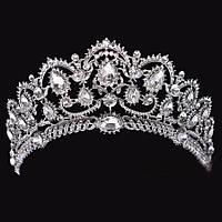 Свадебная диадема, корона, тиара на голову для невесты посеребрение 4791с-а, фото 1